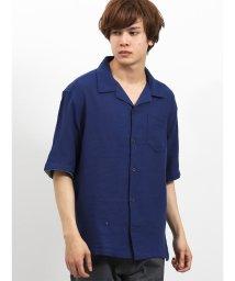 semanticdesign/フレンチリネン混パナマ オープンカラー半袖シャツ/502315167