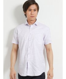 TAKA-Q/ワンウォッシュスラブ無地ワイドカラー半袖シャツ/502315170