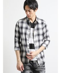 semanticdesign/楊柳チェック柄レギュラーカラー7分袖シャツ/502315180
