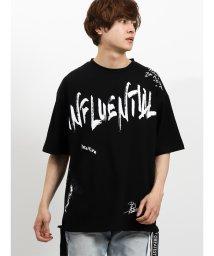 semanticdesign/手書きペインティングBIGクルーネック半袖Tシャツ/502315209