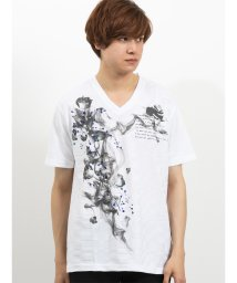 semanticdesign/ブライトジャガード グラフィックVネック半袖Tシャツ/502315268