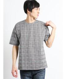 semanticdesign/チェックジャガード クルーネック半袖Tシャツ/502315269
