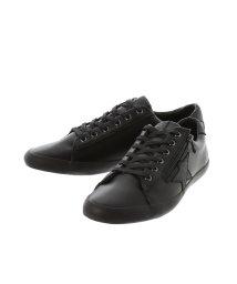 around the shoes /サイドジップ ローカットレザースニーカー/502315337