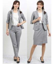 m.f.editorial/ストレッチオックス スタンドカラー7分袖ジャケット+スカート+パンツ/502315351