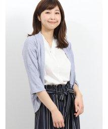 TAKA-Q/ドライセル片染め7分袖ボレロ/502315383