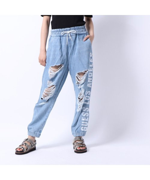 GUESS(ゲス)/ゲス GUESS TEARS RELAXED JOGGER PANT (NEVIS)/GU1432EW14958