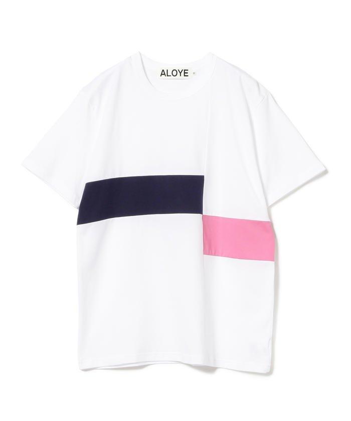ALOYE × Ray BEAMS / 別注 カラー ブロック Tシャツ