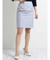 m.f.editorial/ナチュラルストレッチ セットアップスカート コードレーン青/501997558