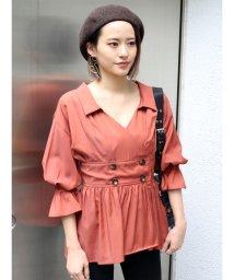 MURUA/カシュクールギャザーシャツ/502255798