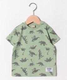 petit main/恐竜総柄Tシャツ/502305487