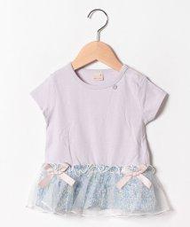 petit main/花柄ペプラムTシャツ/502305490