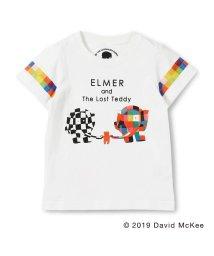 skeegee/【ぞうのエルマー】エルマーとウィルバープリントTシャツ(90~130cm)/502317056