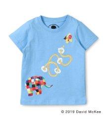 skeegee/【ぞうのエルマー】エルマーとスーパーゾウマンプリントTシャツ(90~130cm)/502317059