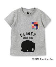 skeegee/【ぞうのエルマー】パッチワーク風ポケット付きTシャツ(90~130cm)/502317062