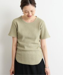 SLOBE IENA/ベーシックワッフル5分袖Tシャツ◆/502317385