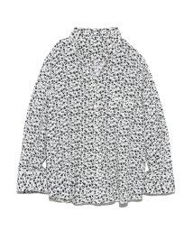 Mila Owen/オープンカラーフラワープリントシャツ/502318648