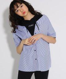 PINK-latte/★ニコラ掲載★シャツレイヤード5分袖 トップス/501971146