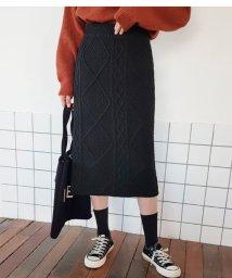 sonyunara/SONYUNARA(ソニョナラ)ケーブル編みニットスカート/502314871