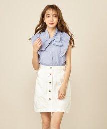 MIIA/デニムミニ台形スカート/502318291