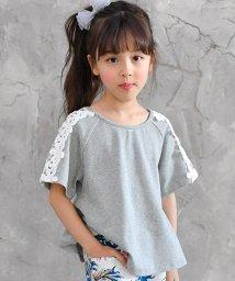 子供服Bee/袖レース刺繍 半袖トップス/502319946