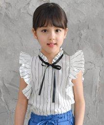 子供服Bee/ピンストライプ×フリル ブラウス/502319948