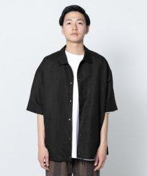 SENSE OF PLACE/リネンレーヨンコーチシャツ(5分袖)/502322351