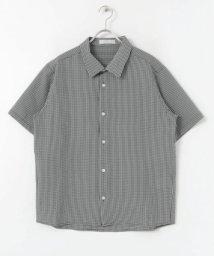 SENSE OF PLACE/チェックシアサッカーシャツ(半袖)/502322353