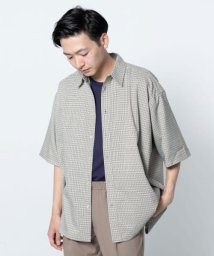 SENSE OF PLACE/ガンクラブチェックルーズシャツ(5分袖)/502322354