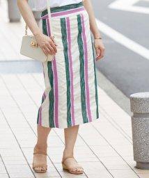 ROPE'/【セットアップ対応】マルチストライプタイトスカート/502275766