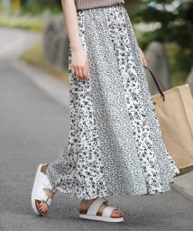Bou Jeloud/【WEB限定】大人っぽい&キレイめな小花柄切替スカート/502313636