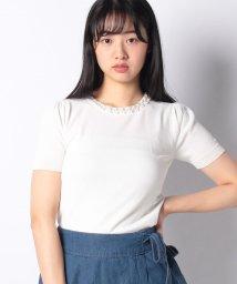 Eimy Peal by POWDER SUGAR/パール衿半袖ニット/502313664