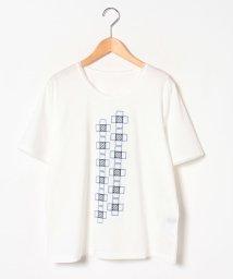 LAPINE ROUGE/【大きいサイズ】ロイヤルクールスムース×刺繍 カットソー/502313732