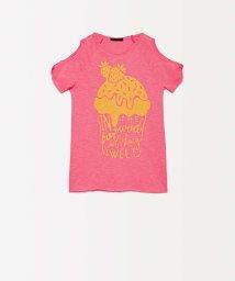 SISLEY YOUNG/グリッタープリント半袖Tシャツ・カットソー/502317451