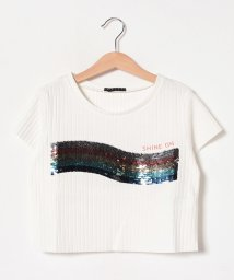 SISLEY YOUNG/リブショート半袖Tシャツ・カットソー/502317452