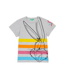 BENETTON (UNITED COLORS OF BENETTON GIRLS)/【バッグス・バニーコラボ】ロゴ半袖Tシャツ2/502317480