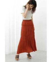 PROPORTION BODY DRESSING/ギャザーサテンスカート/502323656