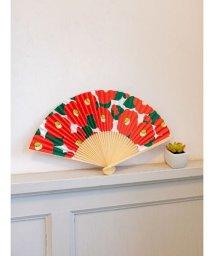 KAYA/【カヤ】和の香り 椿紙扇子 袋付き 7HJP9202/502324824