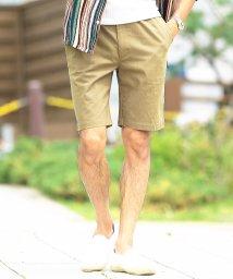JIGGYS SHOP/綿麻ストレッチショートパンツ / ハーフパンツ メンズ ショートパンツ 短パン 膝上 半パン ストレッチ /502324846