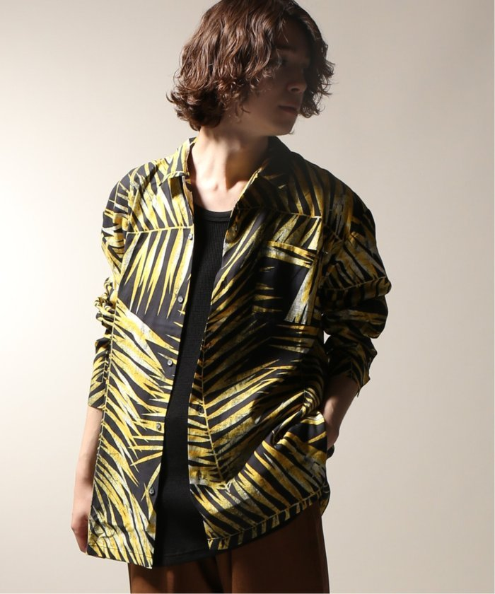 DOUBLE RAINBOUU / ダブルレインボー  TIGER PALM L/S SHIRT