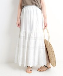 SLOBE IENA/刺繍レースロングスカート/502326089