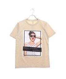 STYLEBLOCK/スタイルブロック STYLEBLOCK ガールズフォトエンボスプリント半袖Tシャツ (ベージュ)/502326176