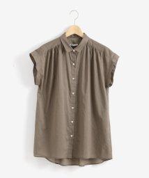 le.coeur blanc/コットンギャザーロングフレンチシャツ/502017620