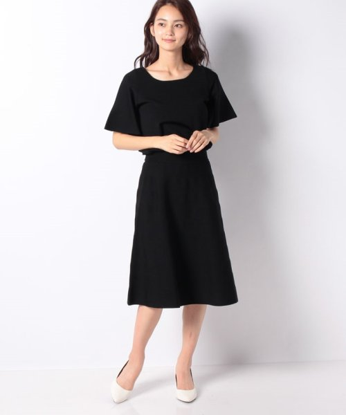 MISS J(ミス ジェイ)/ハノン ウエストゴムニットドレス/635678