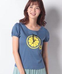 MISS J/【洗える】レモンサイクルプリント Tシャツ/502317159