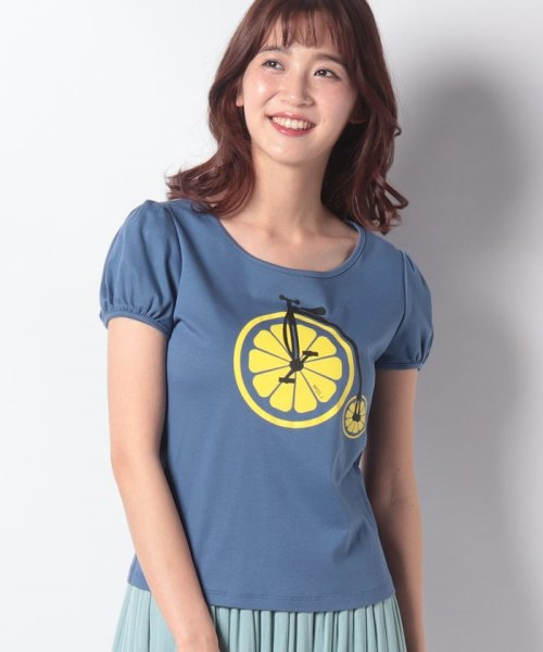 MISS J(ミス ジェイ)/【洗える】レモンサイクルプリント Tシャツ/630739