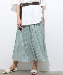ViS/シャイニーサテンフェードアウトプリーツスカート/502326043