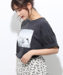 ViS/フラワーフォトチュニックTシャツ/502326149