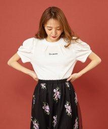 MIIA/ロゴ刺繍タックラメTシャツ/502311122