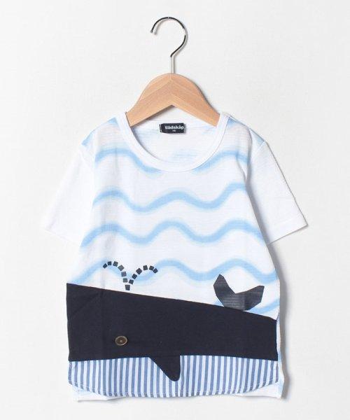 kladskap(クレードスコープ)/裾クジラ切替Tシャツ/5392220