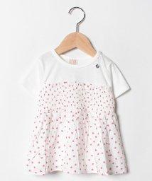 petit main/ハートチュニックドッキングTシャツ/502313686